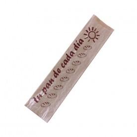 bolsa papel kraft 2 barras 11+7x52cm (caja 1000uds)