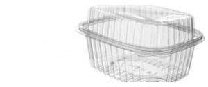 Envase transparente con tapa alta