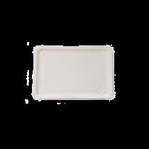 Bandejas de cartón blanco