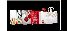 Bolsa reutilizable no tejido con motivos de Navidad