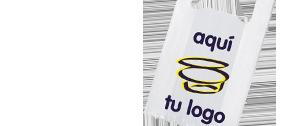 Bolsas de plástico tipo camiseta personalizadas con tu logo