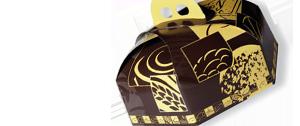 Papel para pastelería. Cajas decoradas, bobinas de papel, bandejas