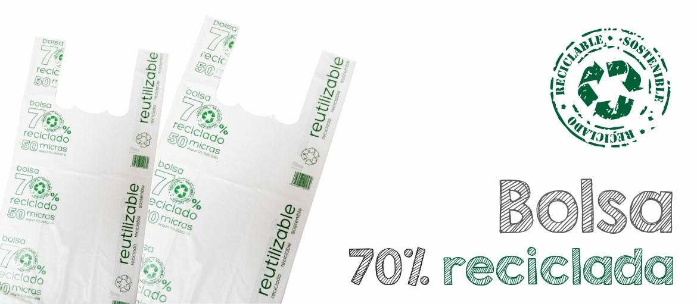 Bolsa 70% Reciclada